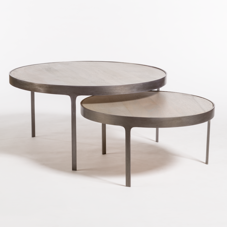 Dover Nesting Coffee Table In Shale Grey And Burnished Riviera