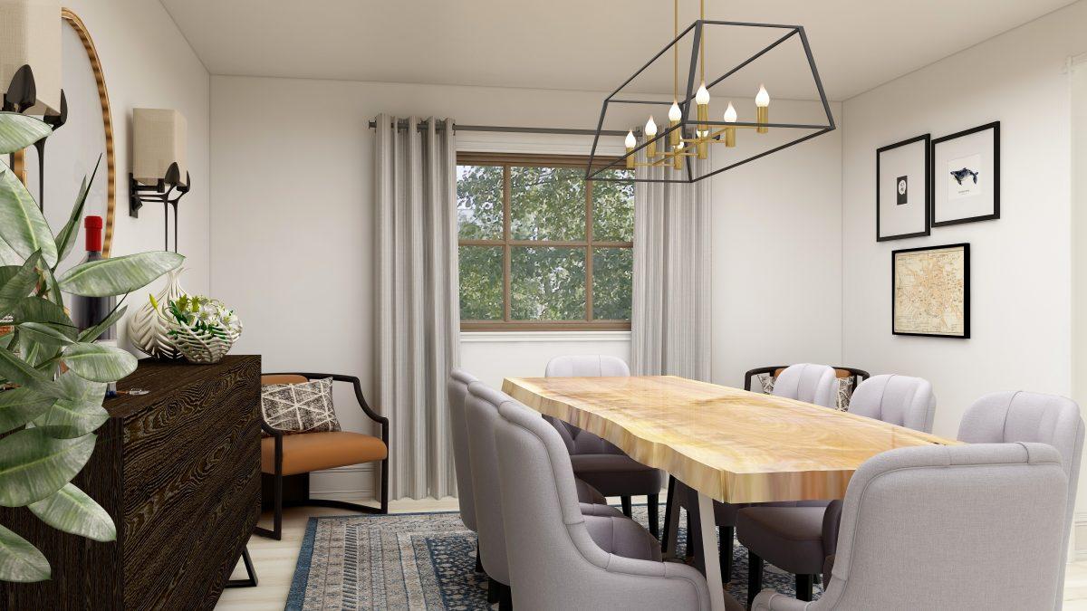 Modern Traditional Virtual Design Dining Room