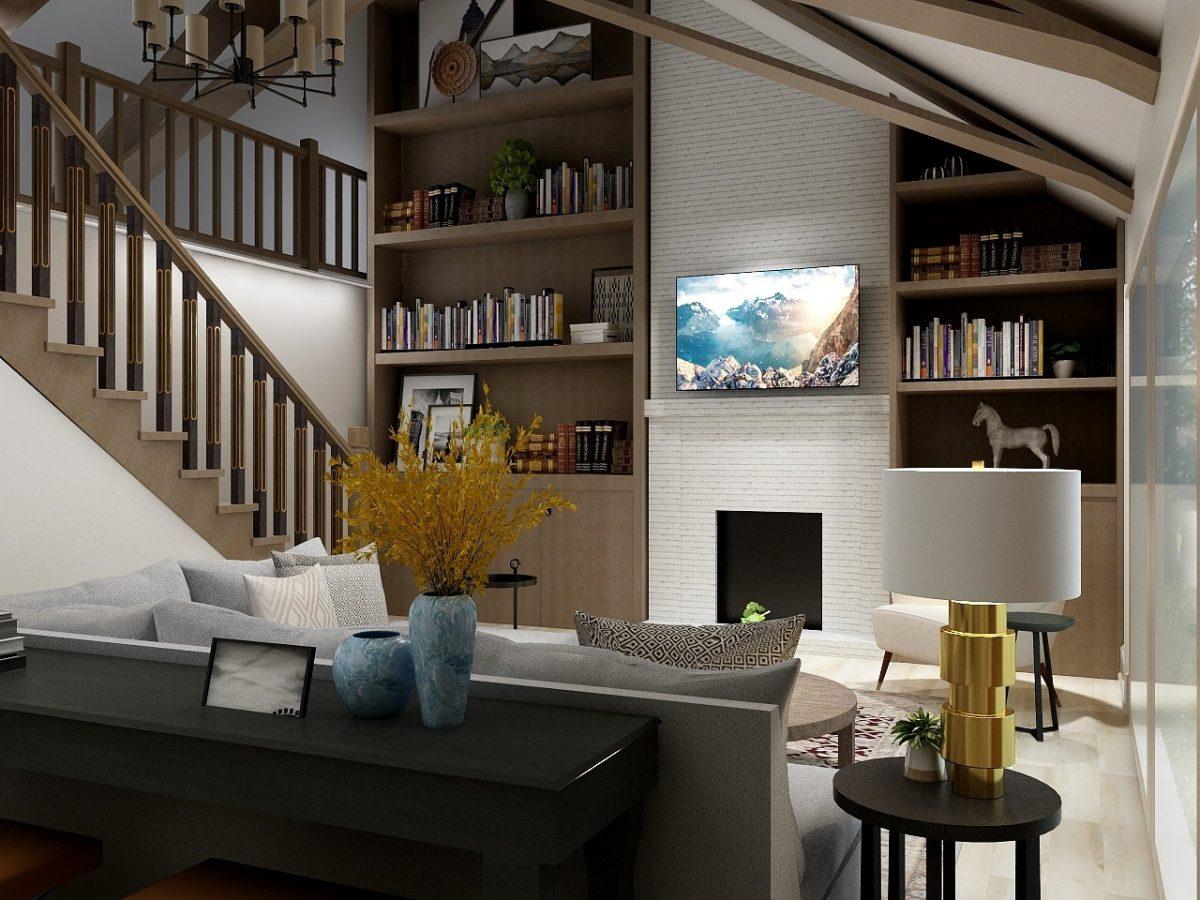 Rustic Modern Family Room eDesign