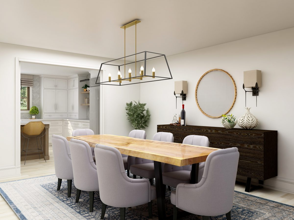 Mix of Old and New Style Interior Design Dining Room Columbus