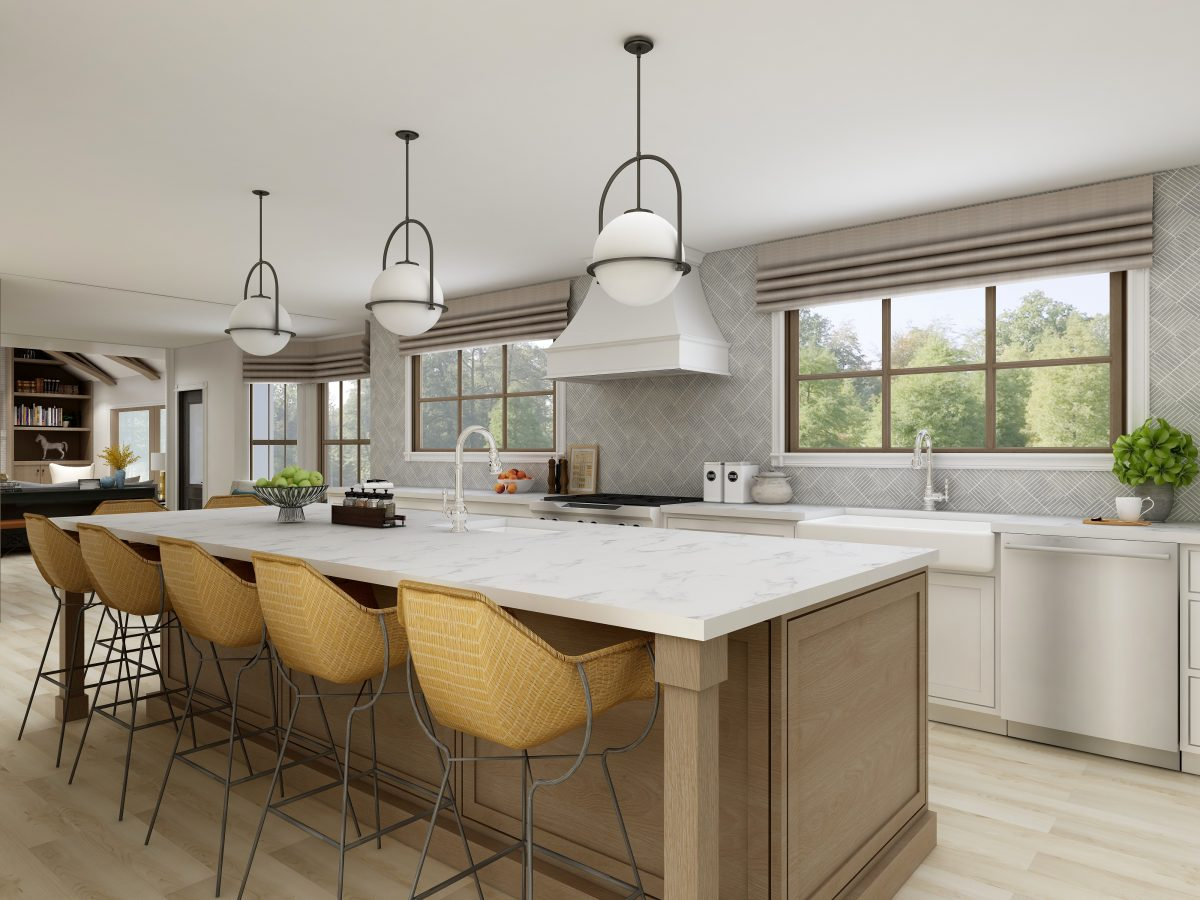 Playful Modern Kitchen with Classic Flair Sustainable Renovation