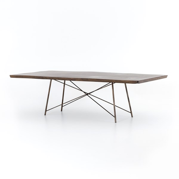 Rocky Dining Table-Bronzed Iron