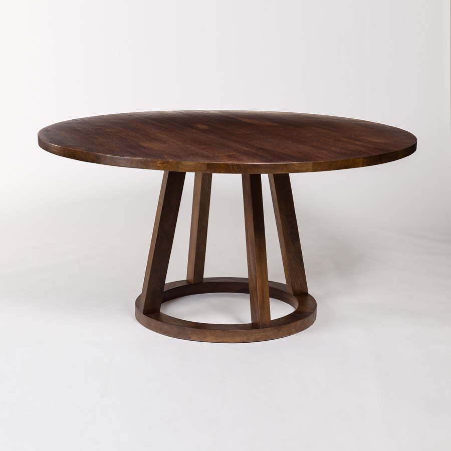 """Mendocino 60"""" Round Dining Table In Dark Chestnut"""
