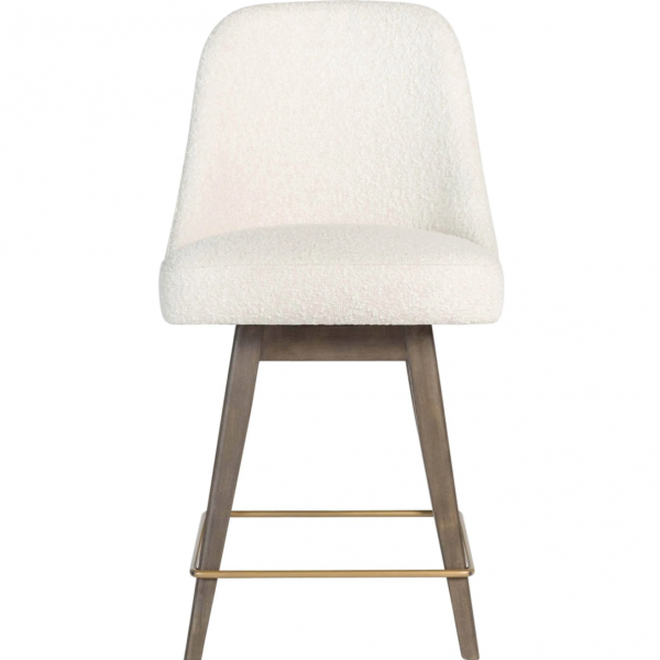 Jackie Counter Stool In Warm Cotton And Moderna Brown
