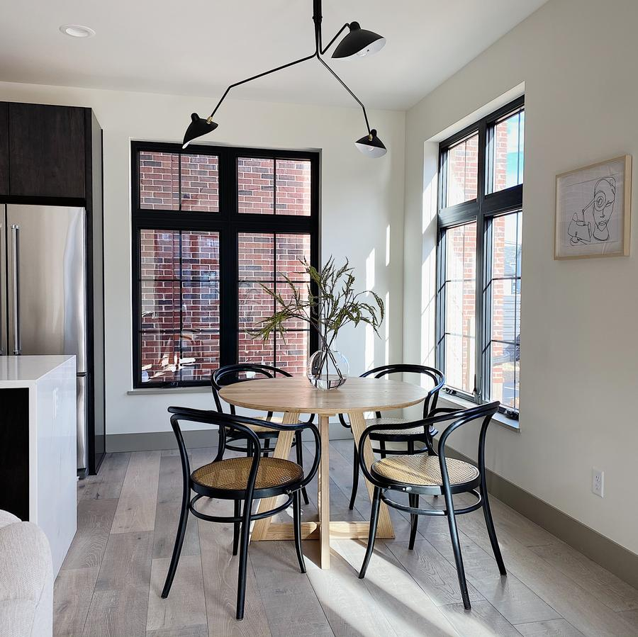 Sustainable design in action with kitchen table and chairs