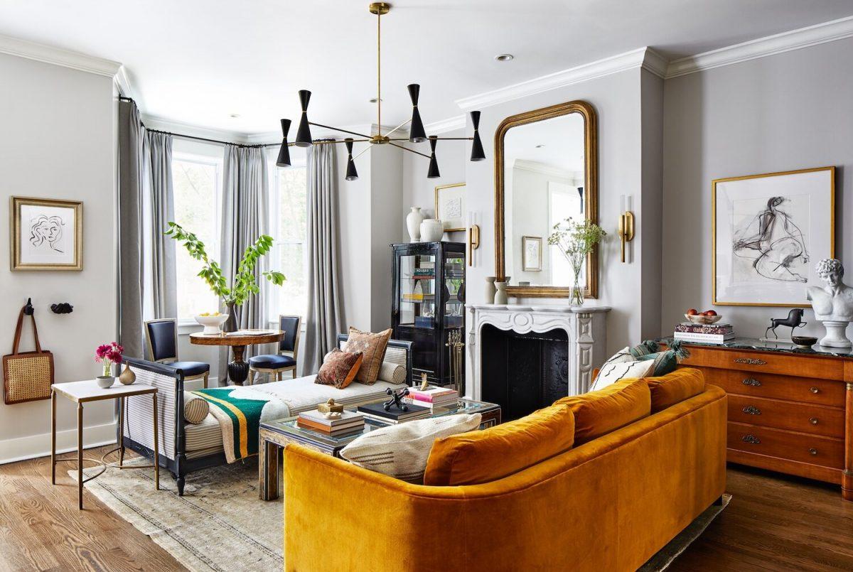 Living room utilizing sustainable design